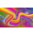 vibrant design background with liquid flow shape vector image