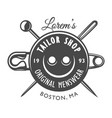 vintage tailor logo concept vector image vector image