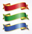 wide ribbons with gold trim vector image vector image