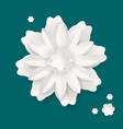 flower with leaves made of paper sheet isolated vector image