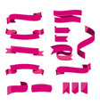 set of flat ribbons for banner isolated vector image