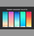 trendy gradient swatches vector image