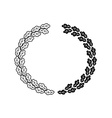 Oak wreath black isolated on a white background vector image