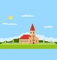 catholic church building vector image