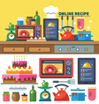 Find recipes online vector image