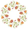 Floral wreath Flower border frame indian theme vector image