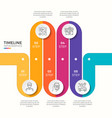 5 steps winding colorful timeline infographic vector image vector image