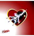 a big red heart of love and vector image vector image
