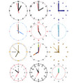 a set of different mechanical clocks vector image