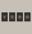 abstract contemporary art with celestial geometry vector image