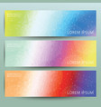 Abstract polygonal banner background set vector image