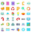 accessories icons set cartoon style vector image vector image
