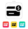 Amount credit card icon vector image vector image