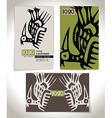 Ancient Business card design vector image vector image