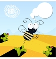 angry bee in the desert vector image
