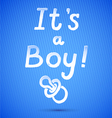 Baby Shower Its A Boy vector image
