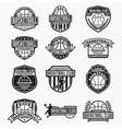 basketball club logo badge vector image vector image