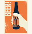 beer open air festival vintage style poster vector image
