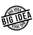 Big Idea rubber stamp vector image vector image