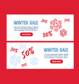 big winter sale poster christmas greeting card m vector image
