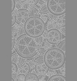 black and white seamless pattern with lemons vector image vector image