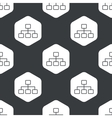 Black hexagon scheme pattern vector image vector image