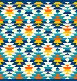 bohemian large aztec diamonds blue pattern vector image vector image