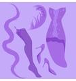 burlesque retro look vector image vector image