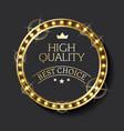 business logo best choice guarantee mark vector image vector image
