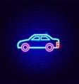 car neon sign vector image vector image