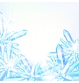 card with winter decor vector image vector image