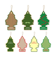 Collection of Christmas tree card Tag Label design vector image