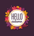 colorful origami seasonal banner with text hello vector image