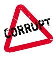 Corrupt rubber stamp vector image vector image