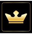 Croun gold icon black vector image