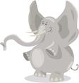 cute elephants cartoon vector image vector image