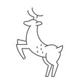 deer line icon sign on vector image