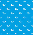dragon boat pattern seamless blue vector image vector image