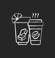 drinks and beverages chalk white icon on black vector image