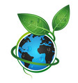earth green eco concept vector image vector image