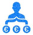 euro capitalist grunge icon vector image vector image