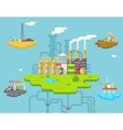 Factory Refinery Plant Manufacturing Products vector image vector image