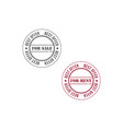 for sale stamp image vector image vector image