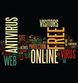 free online antivirus text background word cloud vector image vector image