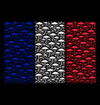 french flag mosaic of umbrella icons vector image