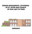 germany cathedral of st peter and church of our vector image vector image