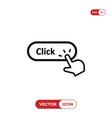 hand click cursor clicking click button icon vector image vector image
