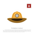 helmet a firefighter on a white background vector image