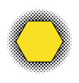 hexagon comic isolated icon vector image