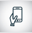 holding smartphone icon for web and ui vector image vector image
